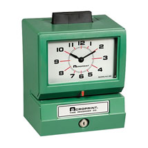 Employee Time Recorder - Manual Time Clock System