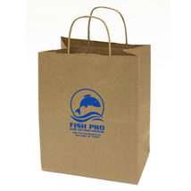 Medium Custom Printed Kraft Shopping Bags