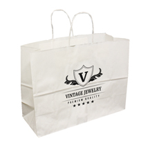 Large Custom Printed White Shopping Bags