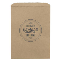 Small Custom Printed Kraft Merchandise Bags