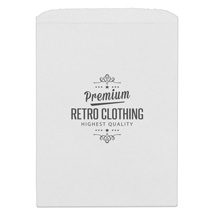 Small Custom Printed White Merchandise Bags