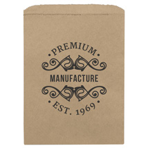 Large Custom Printed Kraft Merchandise Bags