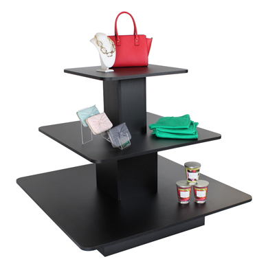 3 Tier Square Display Table