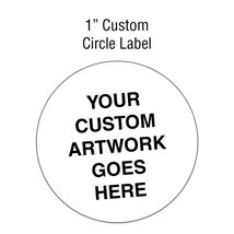 1'' Circle Custom Printed Labels