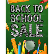 Back To School Poster - 22 In. W X 28 In. H
