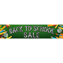 Back to School Sale Banner - 120 in. W x 24 in. H
