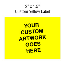 Custom Yellow 2 in. x 1 1/2 in. Rectangle Label