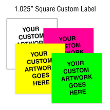 1 1/8 In Custom Square Label