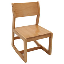 Natural Wood Finish Reception Chair