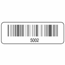 "2"" x 3/4"" Barcode Labels - Sequential Numbered"