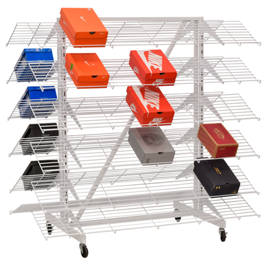 Double Sided Shoe Rack With 8 Shelves