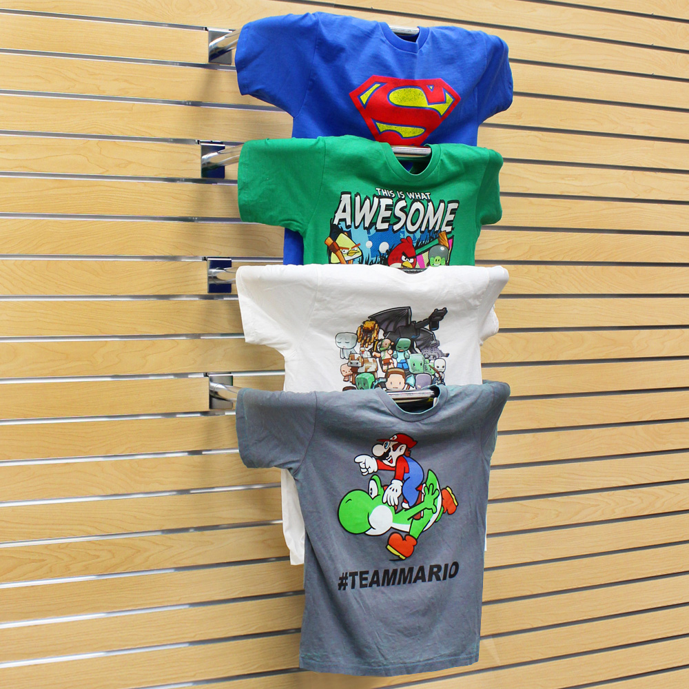22 in. Chrome T SHIRT Display for Slatwall