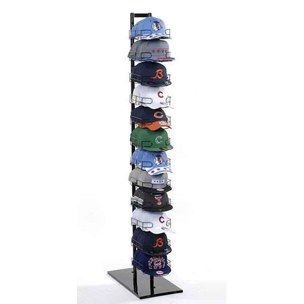 12 Tier Black Hat Display - 120 Hat Display