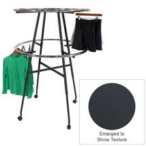 42 In. Round CLOTHING Rack With Casters? Matte Gray