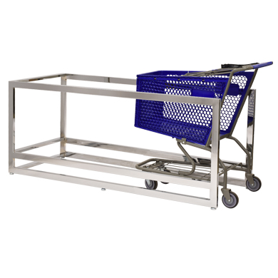 Chrome Indoor Cart Corral Shopping Cart Organizer