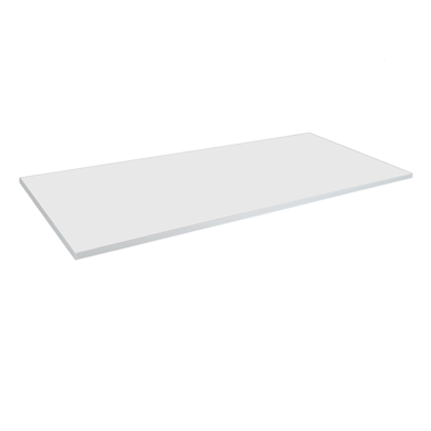 White Laminated Wood Shelf 48 In. L X 22 In. W