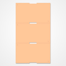 Reinforced Hard Tags Orange