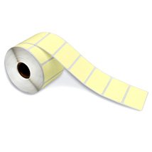 2.25X1.25 TOP COATED PRICE LBL YELLOW 20 ROLLS/CTN