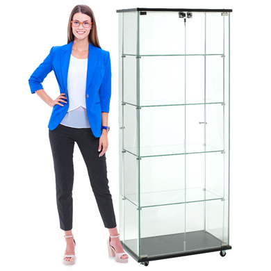 Locking Souvenir Tower Display Case - 24 Inch Wide