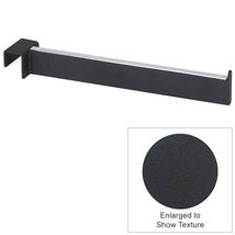 12 In. Rectangular Faceout For Hang Rail – Matte Black