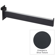 12 In. Faceout Arm For Slatwall – Matte Black