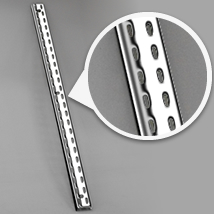 Chrome Double Slotted Wall Standard
