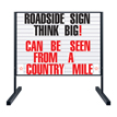 Letter Sets For Single Side Roadside Sign