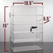 5 Shelf Acrylic Locking Display Showcase