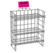 Black 3 Shelf Counter Display Rack