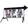 Double-Sided Roadside Back-Lit Sign W/Flashing Arrow - White Face (Ul Listed)