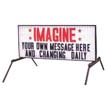 Double-Sided Roadside Back-Lit Sign Without Arrow - White Face (Ul Listed)