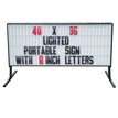 Backlit Roadside Sign 8 Ft. W X 40 In. H