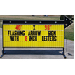 Double Sided Backlit Roadside Sign With Arrow