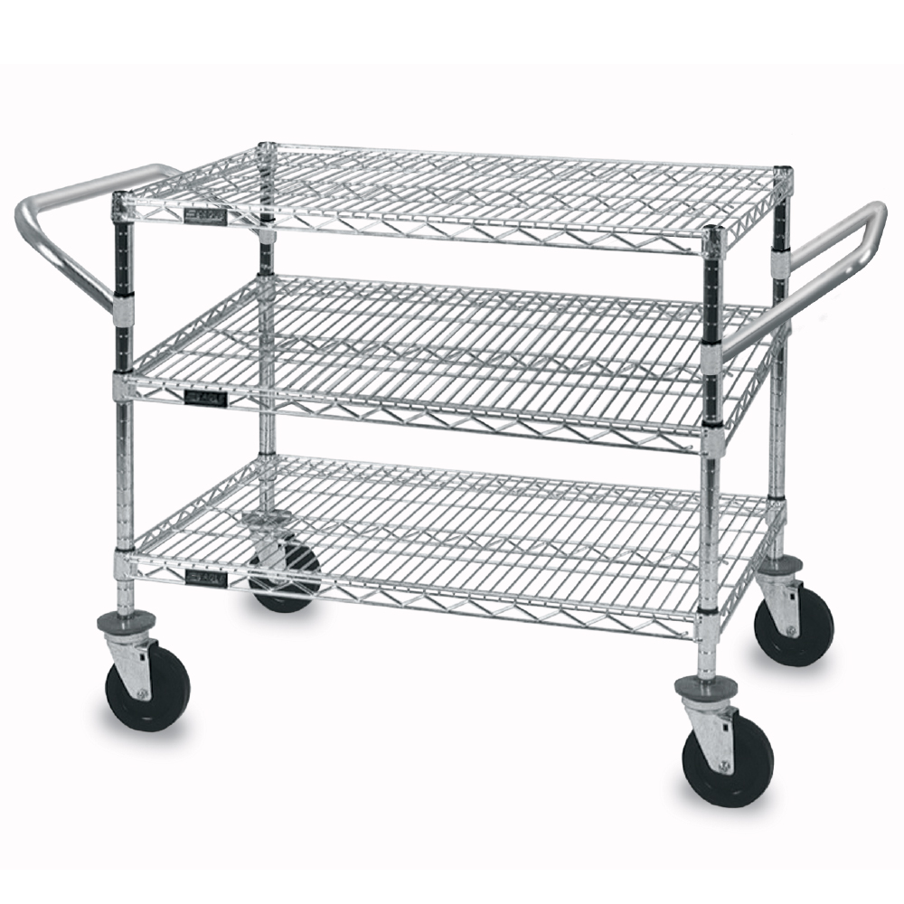 3 Shelf Wire Utility Cart | Specialty Store Services