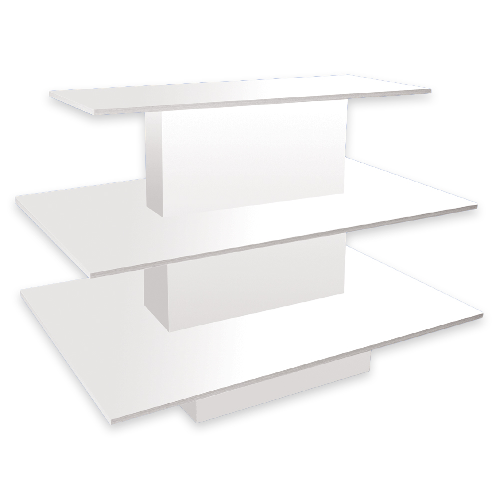 White 3 tier rectangular display table specialty store for Display table
