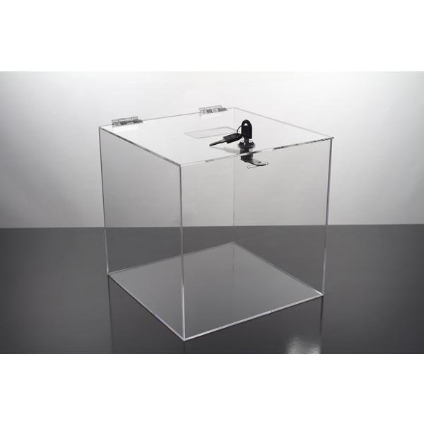 Locking Acrylic Ballot Box 10 X 10 X 10 Lead Box