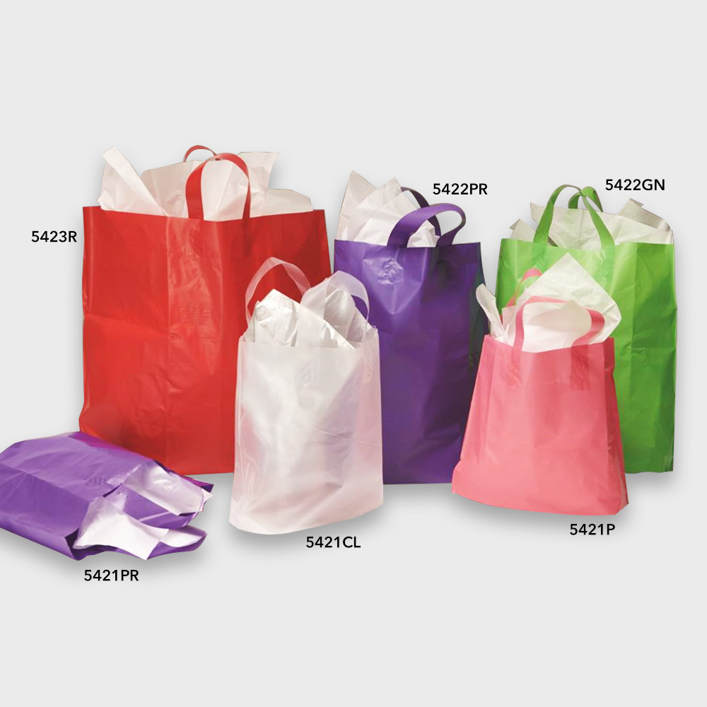 Colored frosted gift bags specialty store services