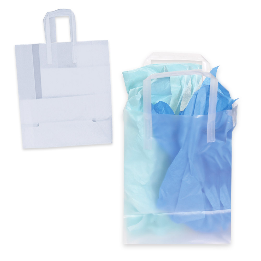 Plastic Bags for Retail: Frosted Plastic Shopping Bags ...