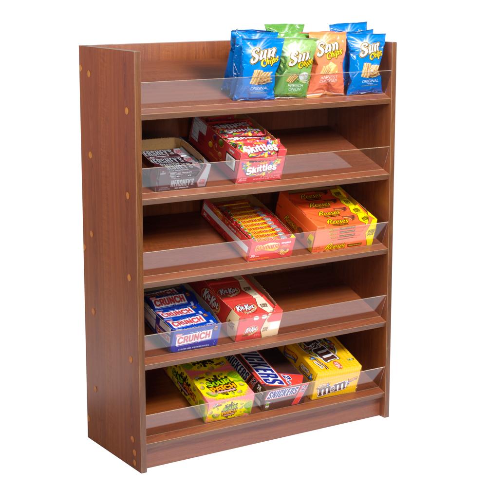 5 shelf floor standing snack display cherry specialty