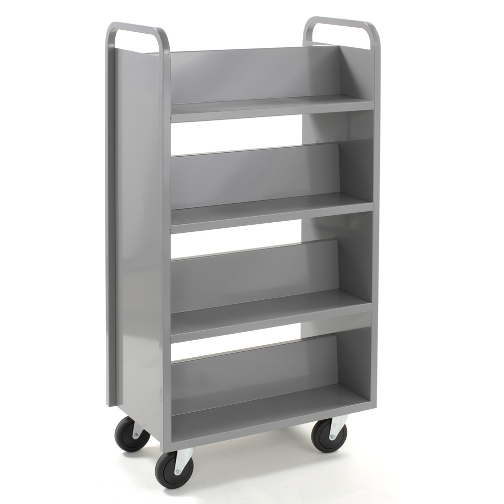 Top 8 Shelf Double Sided Book Truck - In-Stock -Same Day Ship FL64