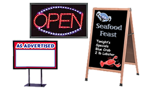Signage, Poster Sign Holders and Sign Accessories
