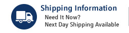 Worry Free Shopping and Next Day Shipping