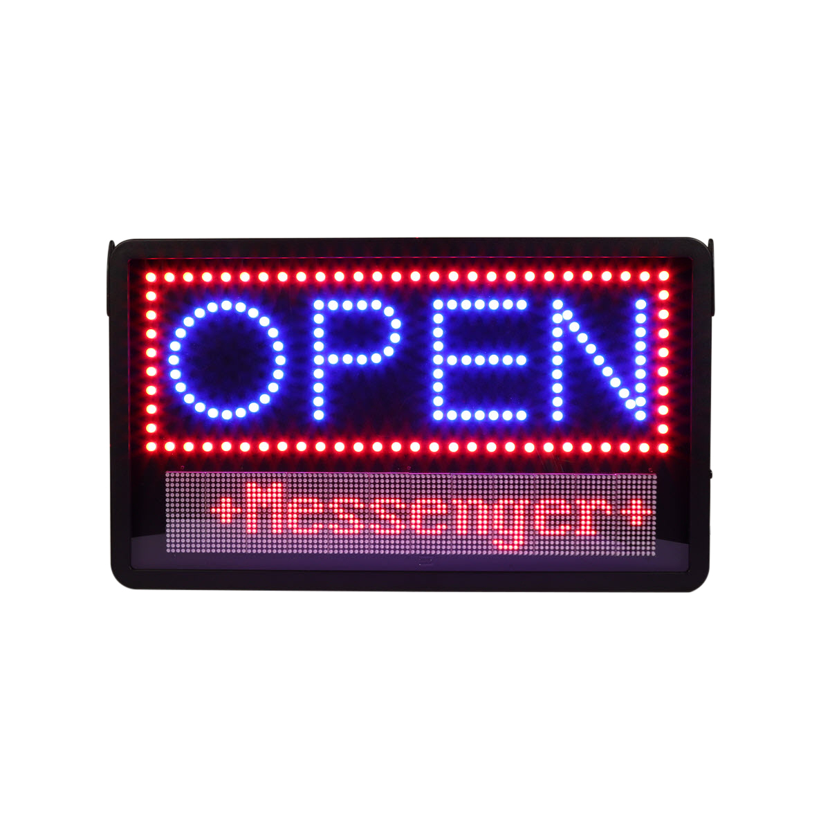 led open sign with message board specialty store services