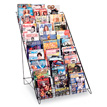 10 Tier Wire Magazine & Book Display Rack - 46 in. High